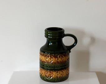 70s boho fat lava ceramic vase Scheurich 489-23