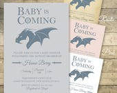 Game Of Thrones Baby Shower Invitation