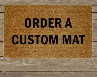Custom Personalized Door Mat, Welcome Mat