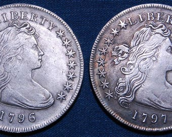Replicas of Famous Rare 1796 and 1797 Silver Dollars