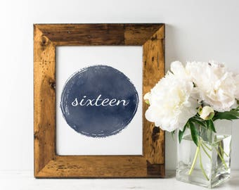 No. TN6   Table Numbers   1 - 20   Navy   Wedding or Reception Decor   Watercolour   Rustic   PDF   PNG   DIY   Printable   Instant Download
