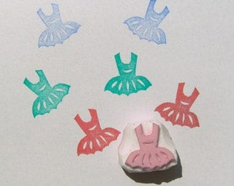 Small Ballerina stamp, Ballerina stamp, Tutu stamp, ballet stamp, little ladies stamp, dancer stamp, ballerina dress stamp, Ballerina tutu