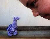 Crochet Giraffe Puzzle Ball, Amamani Amigurumi Blue White Stuffed Toy,