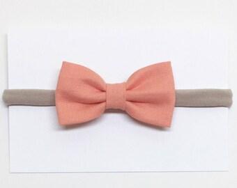 Little Girl Bows - Peach - Girl Bows - Clips or headbands
