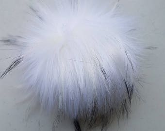 The PEARL pom pom // Faux fur pom poms, handmade hat accessory, cruelty free fur, large pom poms, 5 inch