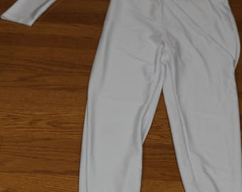 Vintage 70's One Shoulder White Jumpsuit. (S)