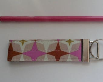 wristlet keychain key fob key ring  fabric keychain women's girls accessories-  designer fabric