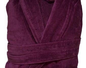 velour.terry  robes,ladies bathrobes .purple  robe,soft cotton  bathrobes,,toplineselections robes