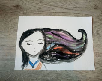 """Postcard """"Pocahontas colors of the wind"""""""