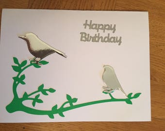 Birds on a branch card