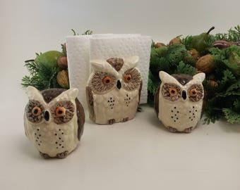 Vintage Napkin/Salt U0026 Pepper Set | Owl Theme, Kitschy Kitchen, Owl Kitchen