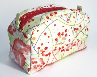 Notions Bag - Box Bag - Cosmetics Bag - Makeup Bag - Toiletry Bag - Travel Bag - Zipper Box Bag - Gift for Girlfriend - Gift for Her