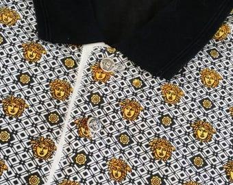 Authentic versace sportwear collar fullprint