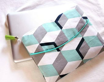 "Laptop case 9 ""10"" 11 ""inch geometric Cube graphic custom"