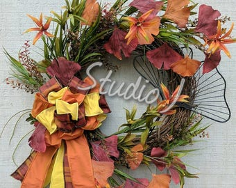 Fall Ginkgo Leaf Wreath