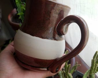 Red Porcelain Mug