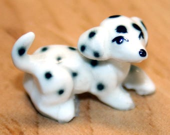 Vintage Ceramic Tiny Dalmation Dog Figurine