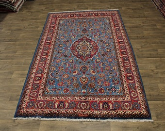 Astonishing Rare S Antique Signed Kashmar Persian Area Rug Oriental Carpet 7X11