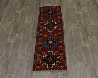 Beautiful Design Handmade Runner Ghoochan Persian Area Rug Oriental Carpet 2X6