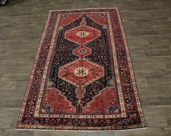 Fantastic Great Shape Handmade Nahavand Persian Rug Oriental Area Carpet 5ʹ5X10