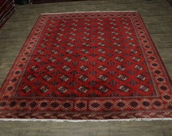Nice Handmade Tribal Turkoman Persian Rug Oriental Area Carpet Hot Deal 10X12