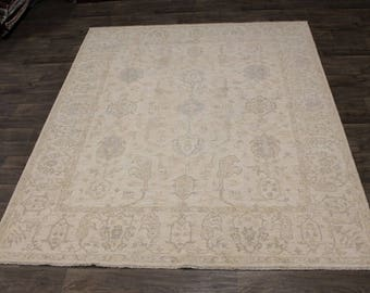 Exquisite Muted Oushak Zeigler Chobi Pakistan Wool Rug Area Oriental Carpet 8X10