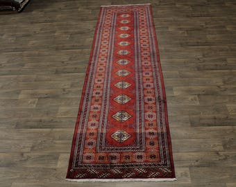 Excellent Palace Runner Tribal Turkoman Persian Rug Oriental Area Carpet 3X13
