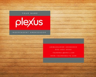 DIGITAL Red/Gray MANbassador Business Cards