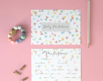 Baby Prediction Cards: Baby Shower game