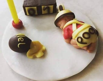 Baby winnie the Pooh themed polymer clay