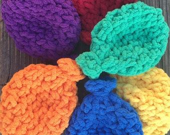 Water Balloons - Handmade Reusable Crocheted Water Ballons Water Toys - Bath Toys - Summer Fun - Kid's Parties - Gift Ideas