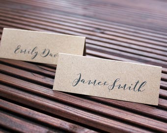 Kraft Card Personalised Place Settings Wedding Personalised