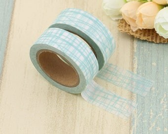 Pale Light Green Bamboo Stripes Washi Tape