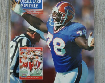 Bruce Smith Beckett Magazine 1991 - Buffalo Bills - Football decor - Vintage football, Buffalo Bills poster, Bruce Smith, Buffalo Bills gift