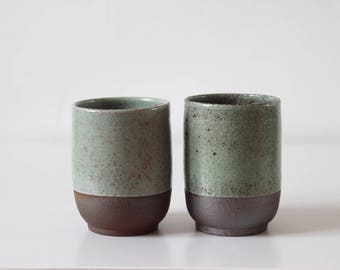 Cup  //  green  //  ceramic  // stoneware