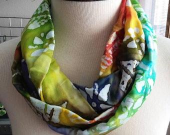 Tie dye infinity scarf