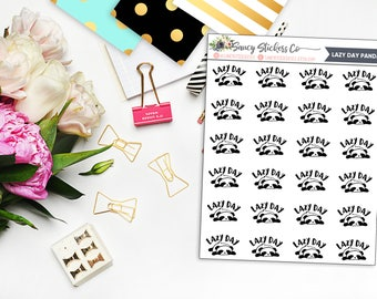 Lazy Day Panda Planner Stickers | for use with Erin Condren Lifeplanner™, Filofax, Personal, A5, Happy Planner