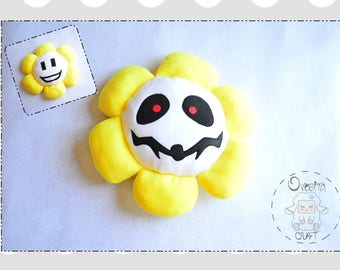 "READY to send, Undertale pillow from double sided 14 "", Flowey inspired by the video game Undertale, Flowey plush cushion"