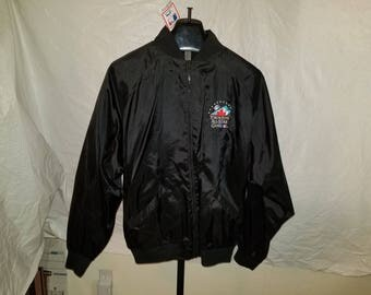 NWT Deadstock Size XL 1991 Toronto All Star Game Zipper Jacket Black With Toronto Blue Jays Logo Embroidered