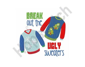 Ugly Sweaters - Machine Embroidery Design