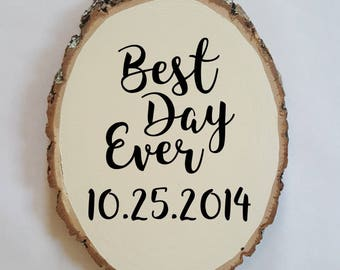Wood Sign, Wedding Sign,  Personalized Wedding Gift, Rustic Wedding, Wedding Decor, Custom Wedding Sign, Gift Table Sign, Wood Slice Sign
