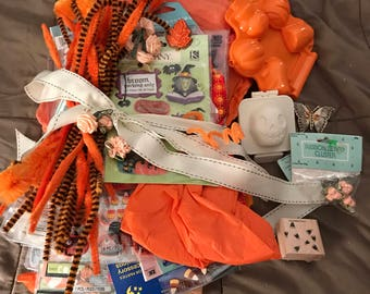 Massive Halloween Mixed Media, Collage, Scrapbooking, Inspiration Kit