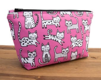 Cat Makeup Bag - Cat Lover Gift - Best Cat Lady Gift Ideas - Crazy Cat Lady Bag - Cute Makeup Bags - Cat Bag - Cosmetic Bag Gift for Her #57