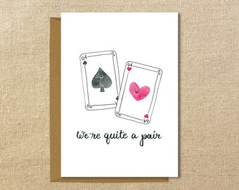 Quite a Pair | Illustrated Card