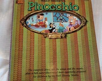 Walt disneys Pinocchio vinyl record 1966