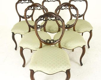 Pre Christmas Sale Balloon Back Chairs | Antique Mahogany Chairs | Six  Mahogany Chairs | B854