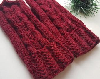Knit mittens Mittens Hand wear Cherry Winter mittens Hand knit mittens Gift for mom Women's glover
