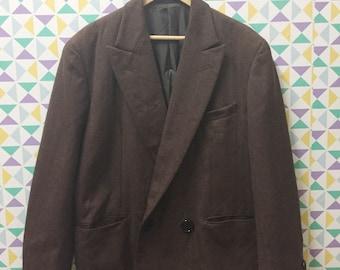 Vintage Comme Des Garcons Homme Plus Double Breasted Wool Blazer Jacket AD 1990 /yohji yamamoto / issey miyake / kansai yamamoto / japanese