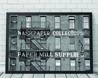 Architecture Typography Art Print, Architecture, Architecture Print, Black & White Print, Printable Download, Minimalist Art, Photography