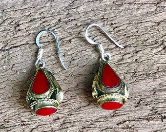 tribal earrings, Afghan jewelry, ethnic Earrings, gypsy boho jewellery, statement earrings, drop earrings, silver dangle earrings,gift ideas
